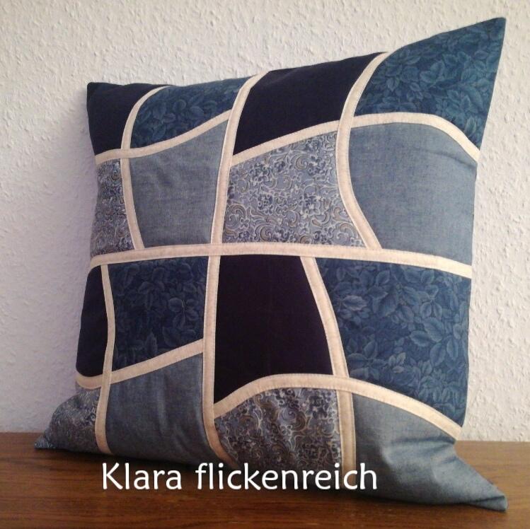 Sofakissen blau-weiß